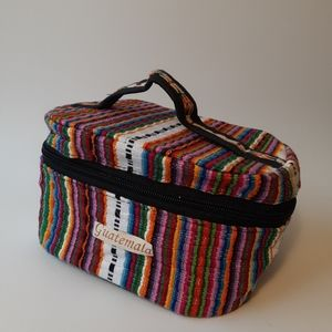 """Guatemala"" Multi-Color Woven Cosmetics Case"